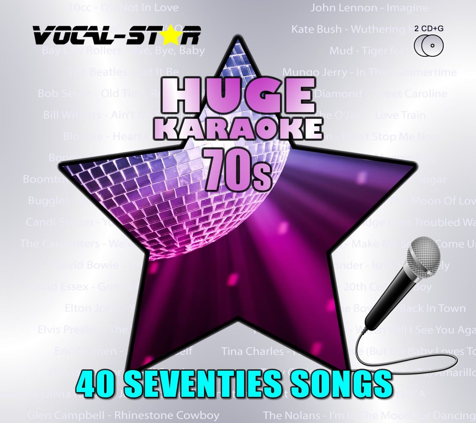 Vocal-Star Huge Karaoke Hits of 70s - 40 Songs - 2 CDG Disc Set