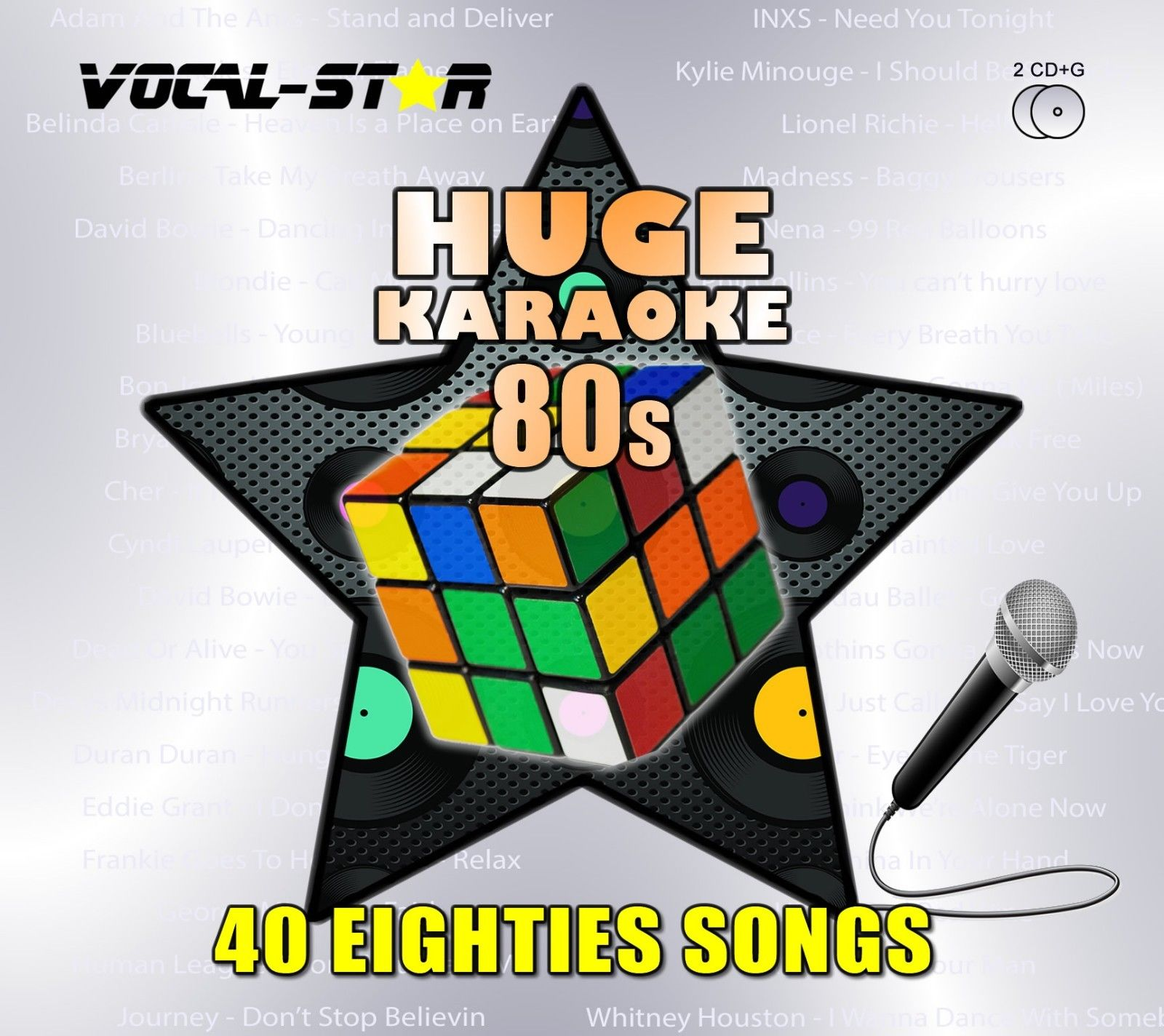 Vocal-Star Huge Karaoke Hits of 80s - 40 Songs - 2 CDG Disc Set