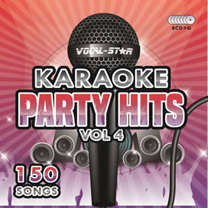 Vocal-Star Party Hits 4 Karaoke Disc Set 8 CDG Discs 150 Songs