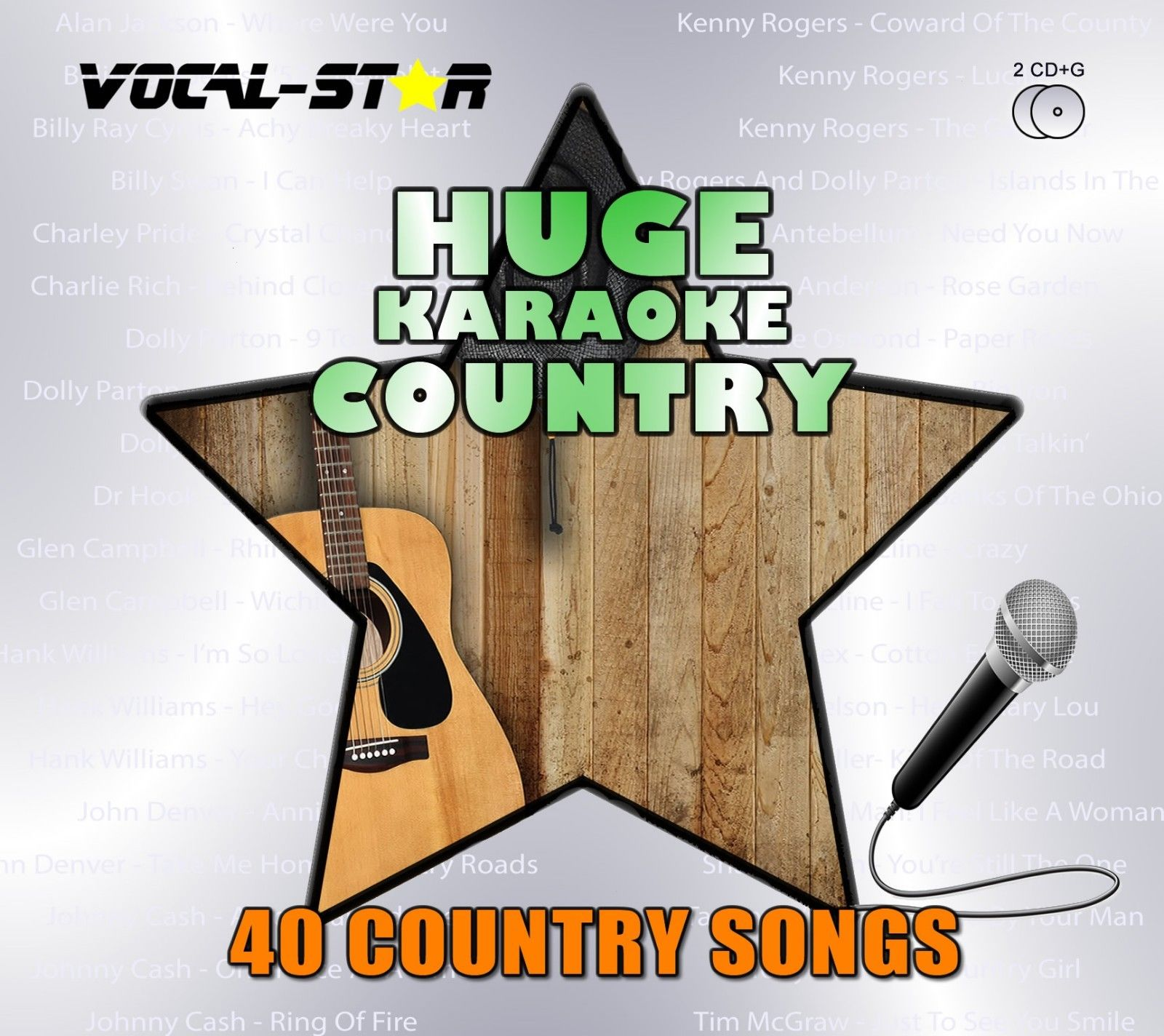 Vocal-Star Huge Karaoke Hits of Country - 40 Songs - 2 CDG Disc Set