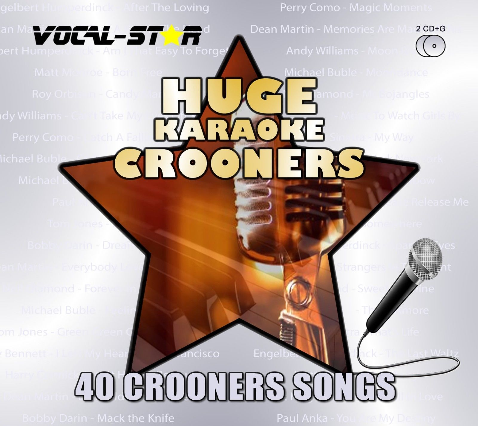 Vocal-Star Huge Karaoke Hits of Crooners - 40 Songs - 2 CDG Disc Set