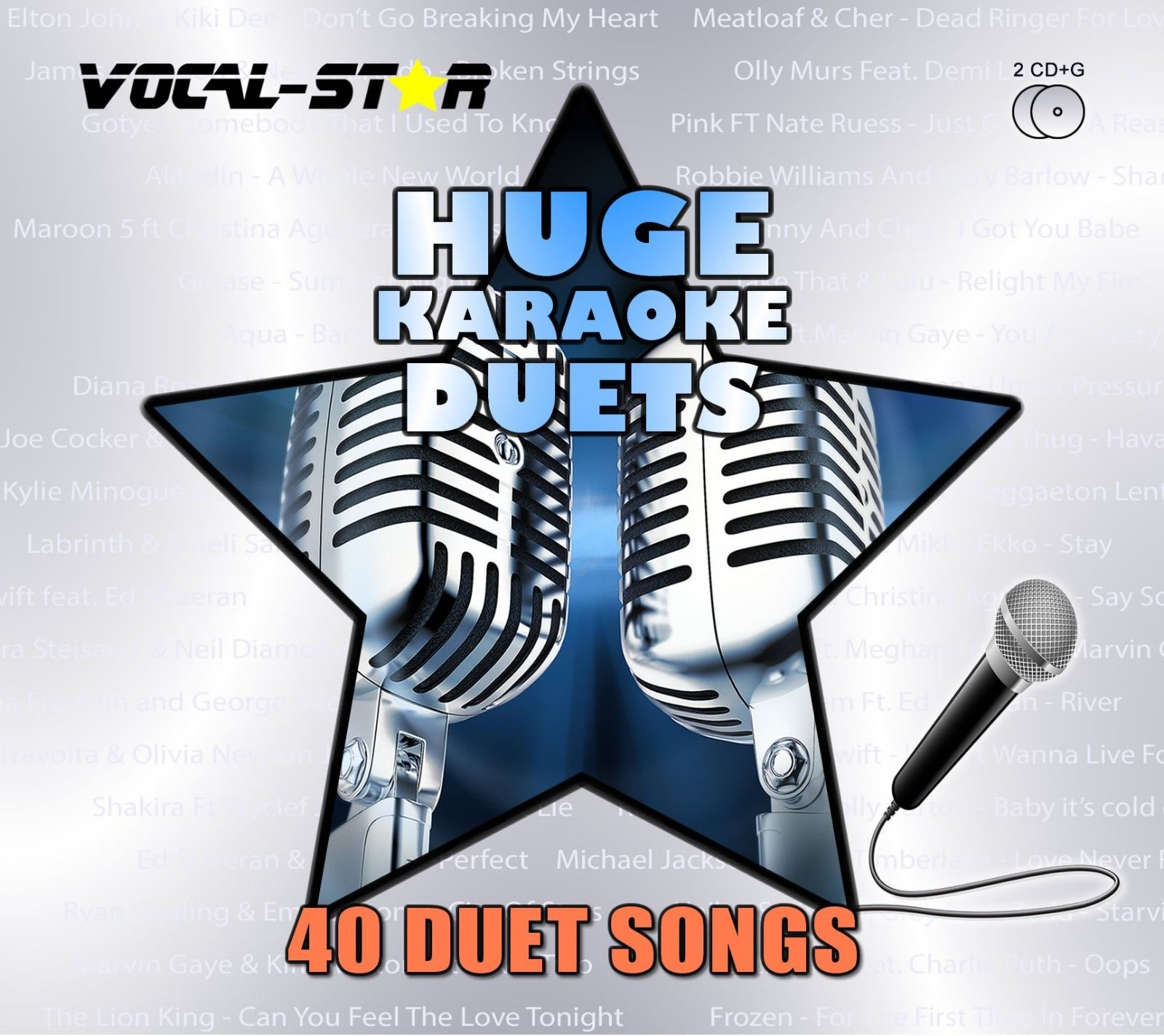 Vocal-Star Huge Karaoke Hits of Duets - 40 Songs - 2 CDG Disc Set