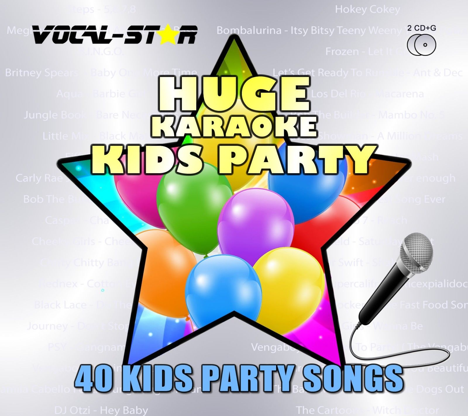 Vocal-Star Huge Karaoke Hits of Kids Party - 40 Songs - 2 CDG Disc Set