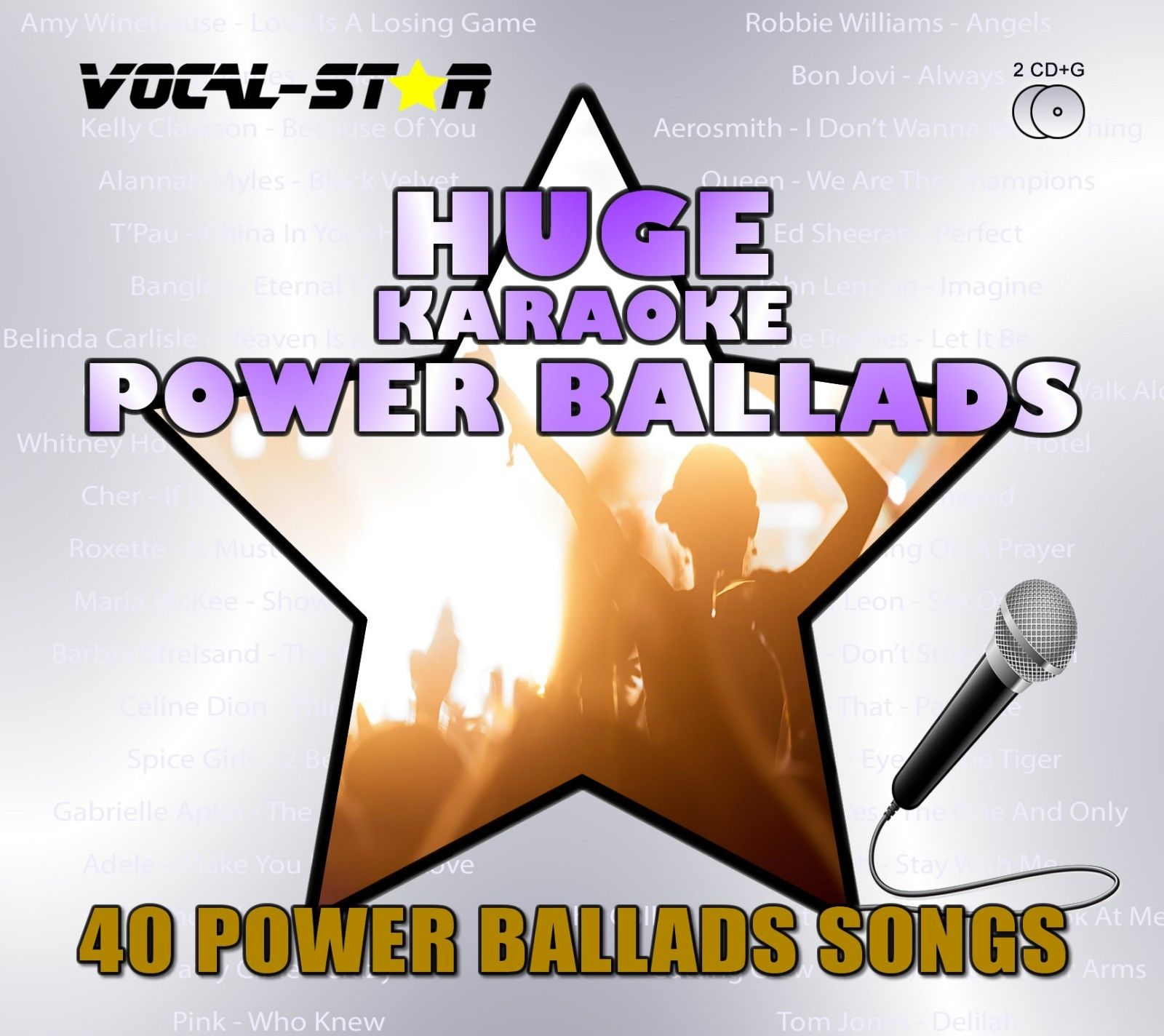 Vocal-Star Huge Karaoke Hits of Power Ballads - 40 Songs - 2 CDG Disc Set