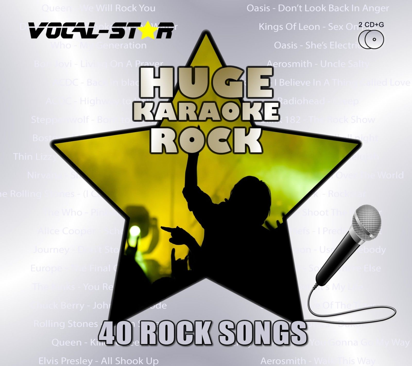 Vocal-Star Huge Karaoke Hits of Rock - 40 Songs - 2 CDG Disc Set