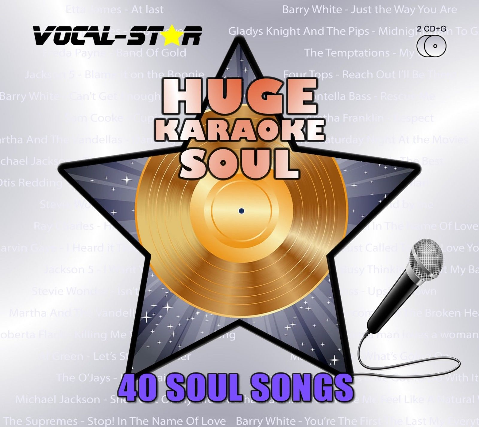 Vocal-Star Huge Karaoke Hits of Soul - 40 Songs - 2 CDG Disc Set
